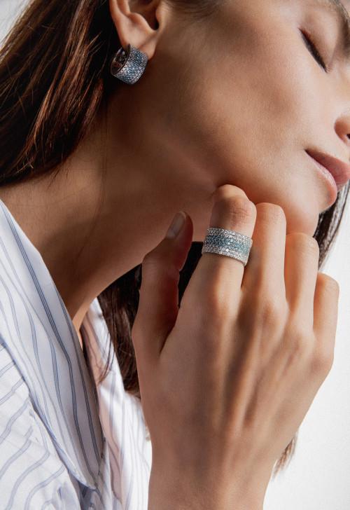 Créations uniques - diamants de synthèse et or recyclé 18K - Courbet