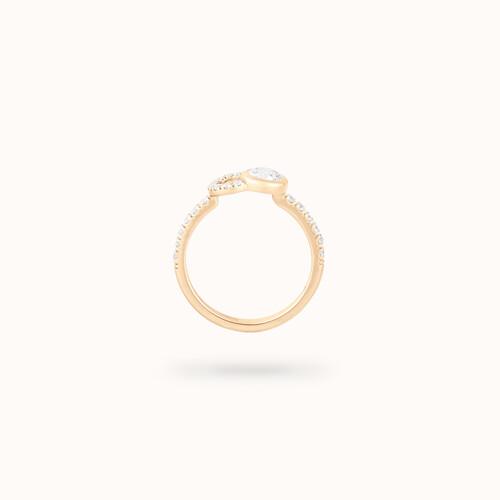 Bague CO fiançailles or jaune, diamant 0.6 carat. - Courbet