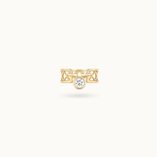 Bague PONT DES ARTS or jaune 18K - diamant synthétique français - Courbet - Courbet
