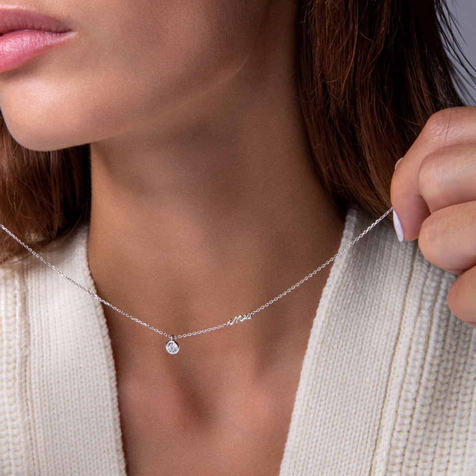 Porté - Collier ORIGINE V.L.P. personnalisables diamants de synthèse et or recyclé - Courbet - Courbet