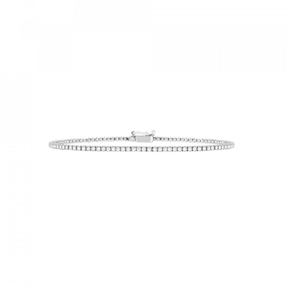 Bracelet Rivière en or blanc recyclé 18K et diamants de synthèse packshot - Courbet - Courbet