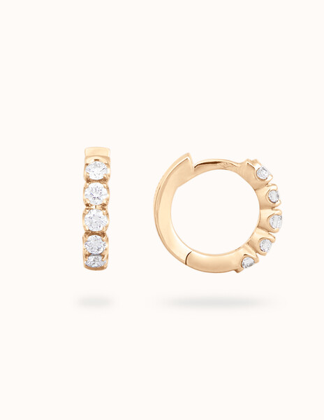 Boucles d'oreilles or jaune et diamants - Courbet - Courbet