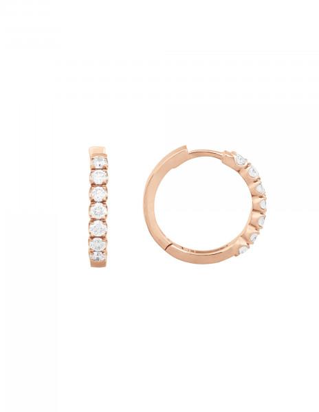 Boucles d'oreilles - Or rose 18K (4,20 g), diamants 0,70 carat - Courbet