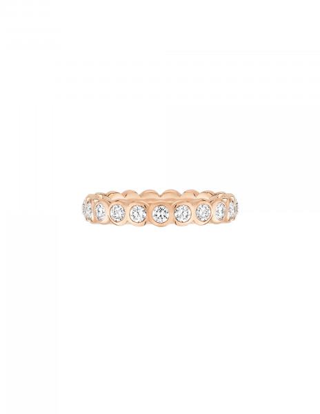 Anneau Or Rose et Diamant de synthèse 1 ct - Origine - Courbet - Vue 1 - Courbet