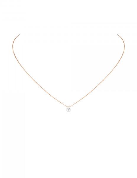 Collier Origine - Or rose 18K (1,70 g), diamant 0,10 ct - Courbet