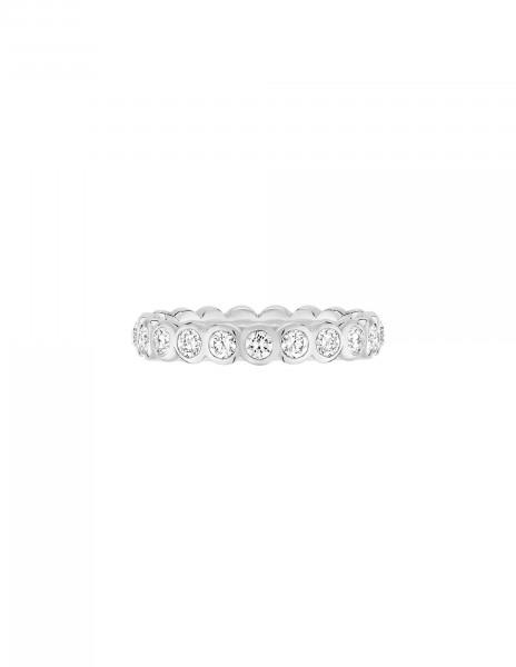 Anneau Or Blanc et Diamant de synthèse 1 ct - Origine - Courbet - Vue 1 - Courbet