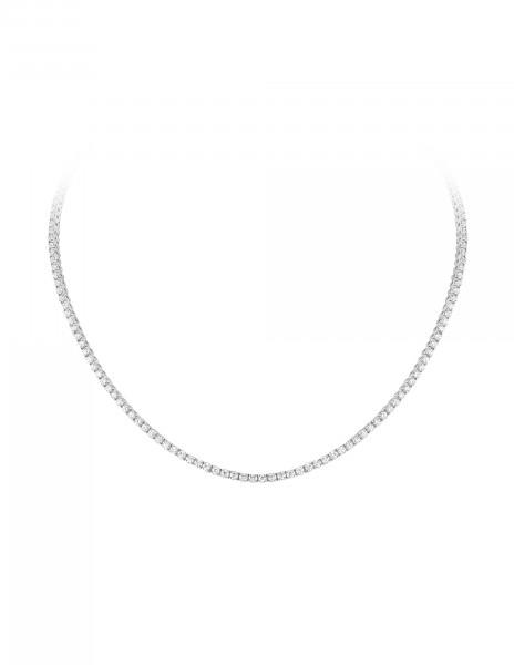 Collier Rivière en or blanc 18K recyclé et diamants de synthèse - Courbet - Vue 1 - Courbet