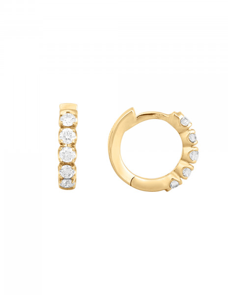 Boucles d'oreilles - Or jaune 18K (3,20 g), diamants 0,50 carat - Courbet