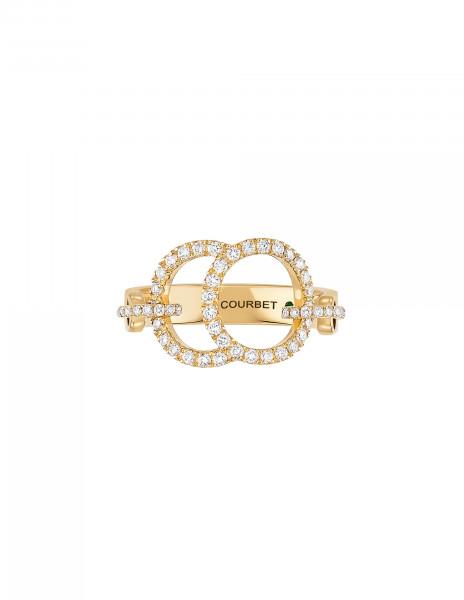 Bague Celeste - Or jaune 18K (5,20 g), diamants 0,50 ct - Courbet