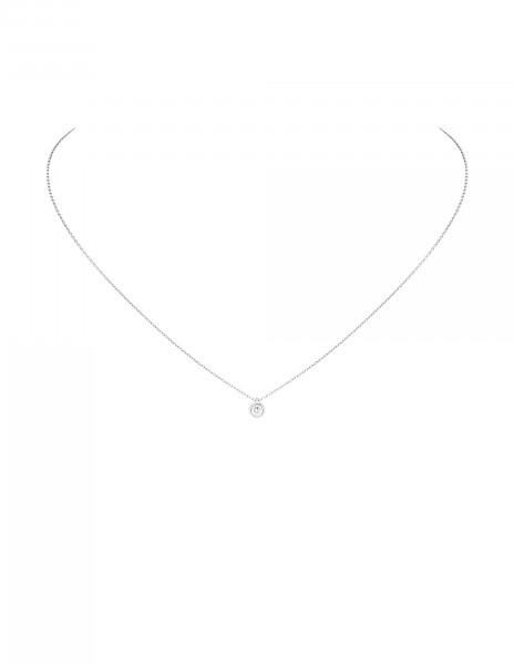 Collier Origine - Or blanc 18K (1,70 g), diamant 0,10 ct - Courbet