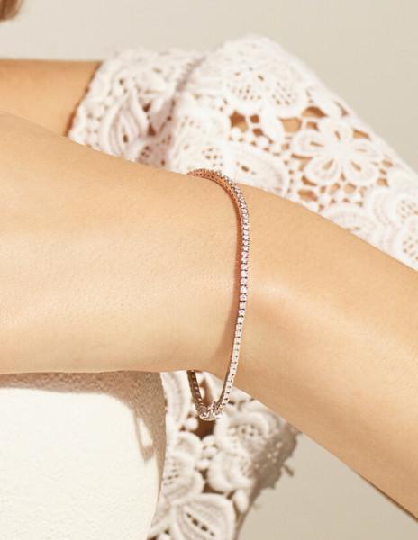 Bracelet Rivière en or blanc recyclé 18K et diamants de synthèse - Courbet - Courbet