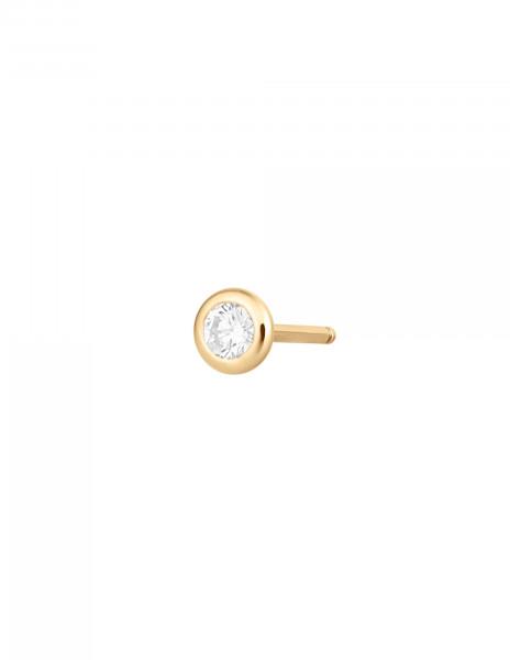 Boucles d'oreilles Origine - Or jaune 18K (1,10 g), 2 diamants 0,20 ct - Courbet