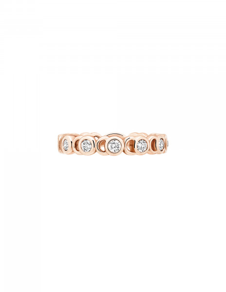 Bague Or Rose et Diamants de synthèse 0,55 ct - CO - Courbet - Face - Courbet