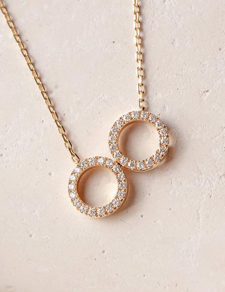 Collier O2 - Or jaune 18K (4,90 g), diamants 0,36 ct - Courbet