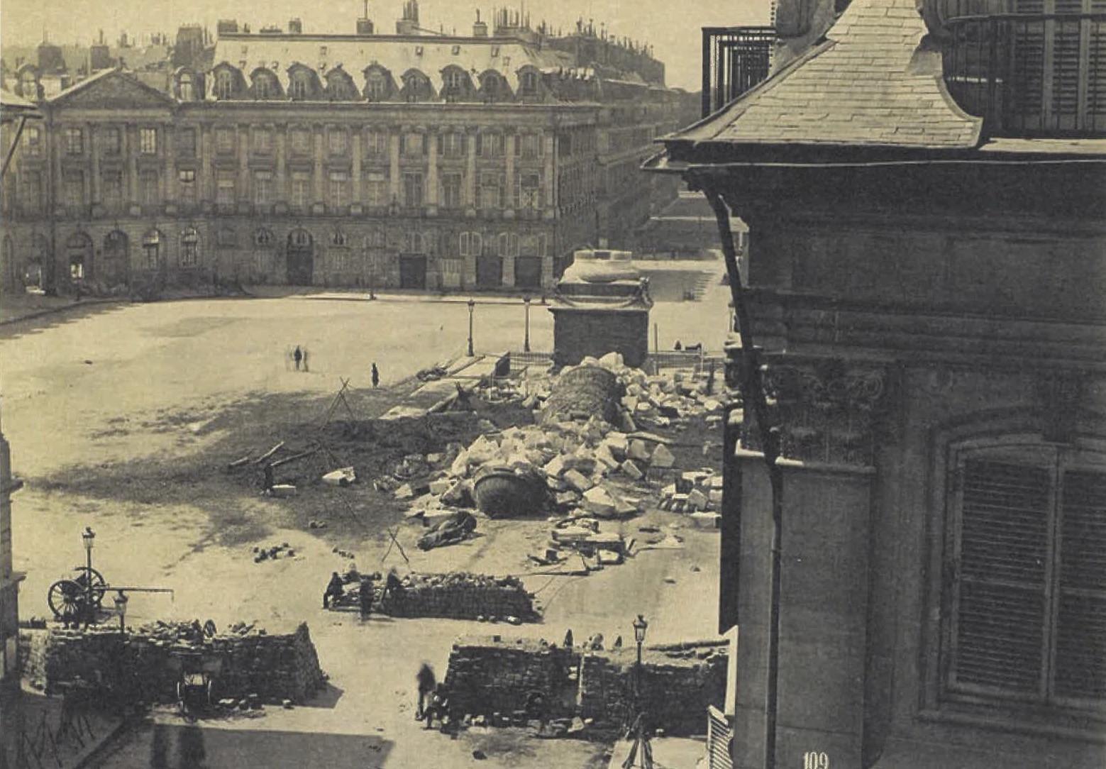 La Place Vendôme rêvée par un esprit révolutionnaire - Bicentenaire Commune de Paris - Courbet