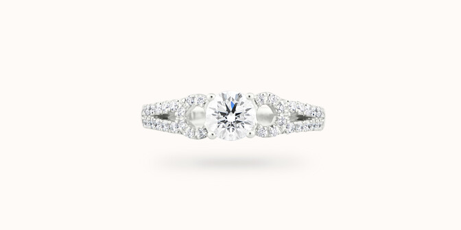 Bague fiançailles Infinity - Or blanc 18K (3,90 g), diamants 0,70 ct