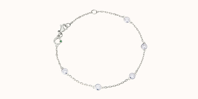 Bracelet Origine - Or blanc 18K (2,20 g), diamants 0,5 cts - Rond