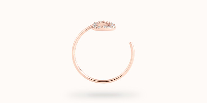 Bague O2 - Or rose 18K (0,90 g), diamants 0,10 ct - Profil - Courbet