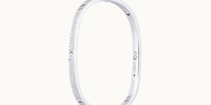 Jonc Eclipse petit modèle - Or blanc 18K (24,00 g), diamants 1,45 cts - Coté