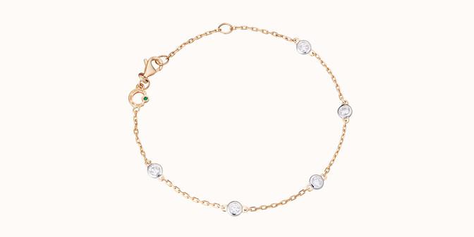 Bracelet Origine - Or jaune 18K (2,20 g), diamants 0,5 cts - Rond - Courbet