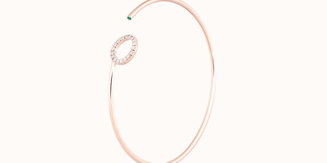 Bracelet O2 - Or rose 18K (4,00 g), diamants 0,18 cts - Côté - Courbet