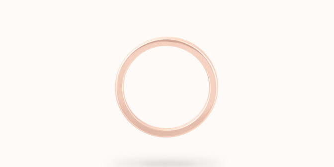 Alliance (1,8 mm) - Or rose 18K (2,00 g) - Profil