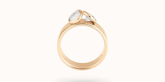 Bague 2 Courbet - Or jaune 18K (7,00g), 2 diamants 1ct - Profil