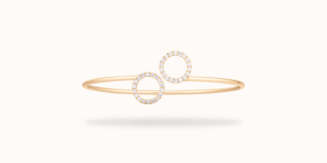 Bracelet O2 -Or jaune 18K (4,50 g), diamants 0,36 cts - Face