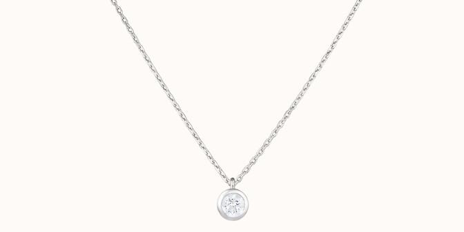 Collier Origine - Or blanc 18K (1,70 g), diamants 0,1 cts - Face - Courbet