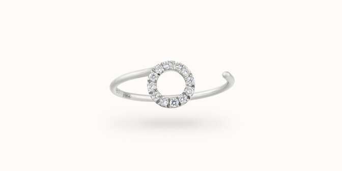 Bague O2 - Or blanc 18K (0,90 g), diamants 0,10 ct - Courbet
