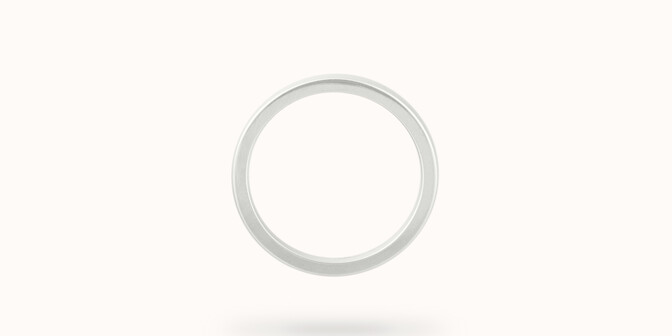 Alliance (1,8 mm) - Or blanc 18K (2,00 g) - Profil - Courbet