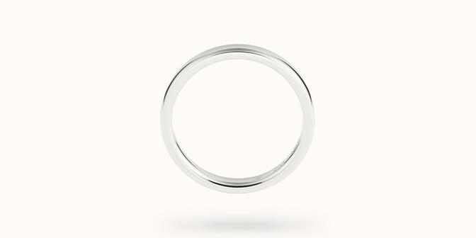 Alliance (3 mm) - Or blanc 18K (4,20 g) - Profil - Courbet