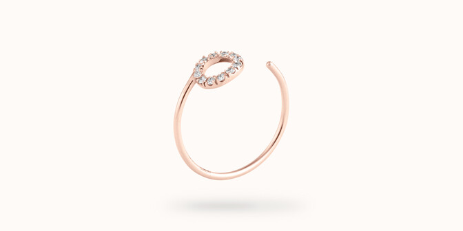 Bague O2 - Or rose 18K (0,90 g), diamants 0,10 ct - Côté - Courbet