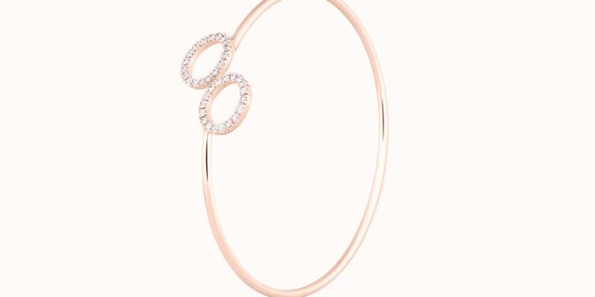 Bracelet O2 - Or rose 18K (5,00 g), diamants 0,36 cts - Côté