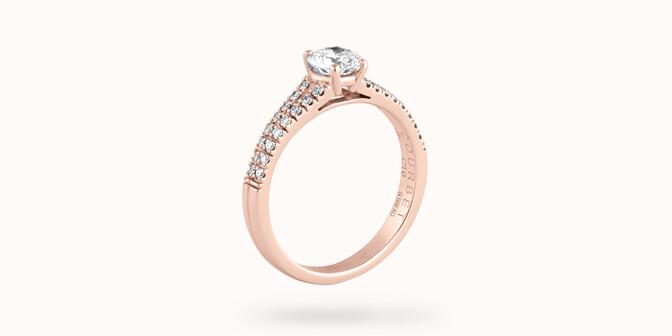 Bague fiançailles Infinity - Or rose 18K (3,50 g), diamants 0,75 ct - Côté - Courbet