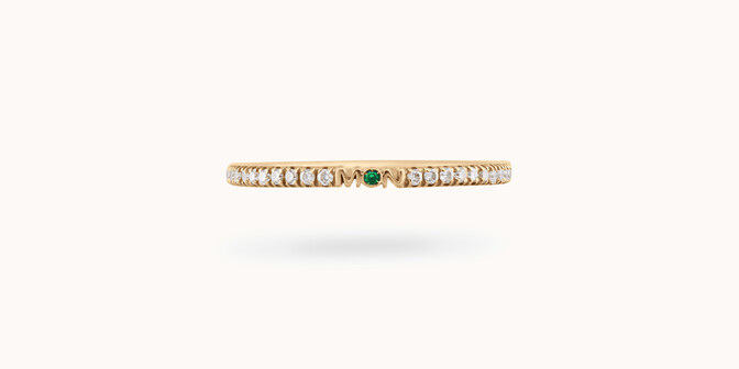 Alliance full-pavée (1,4 mm) - Or jaune 18K (1,00 g), diamants 0,20 ct - Courbet