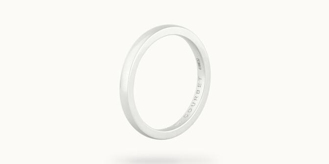 Alliance (1,8 mm) - Or blanc 18K (2,00 g) - Côté - Courbet