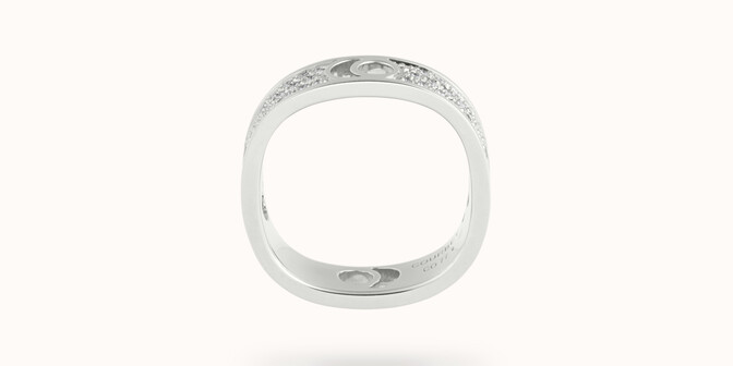 Bague Eclipse grand modèle - Or blanc 18K (7,80 g), diamants 0,70 ct - Profil