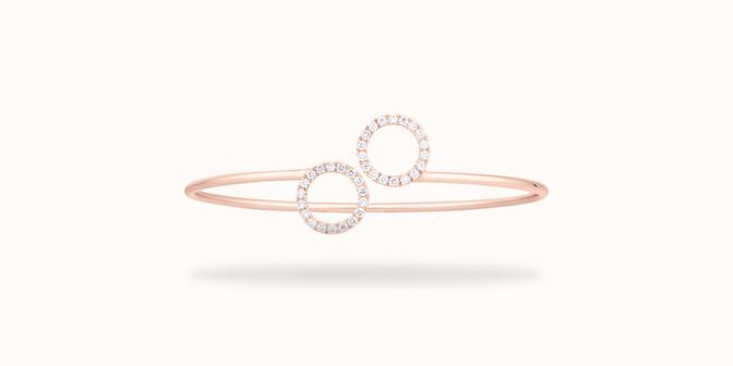 Bracelet O2 - Or rose 18K (5,00 g), diamants  0,36 carat - Courbet