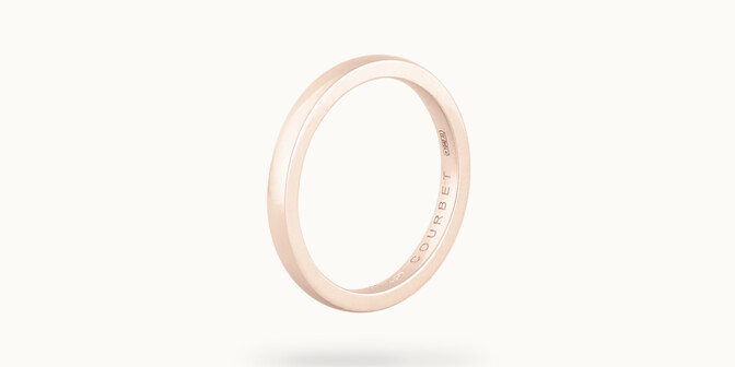 Alliance (1,8 mm) - Or rose 18K (2,00 g) - Côté