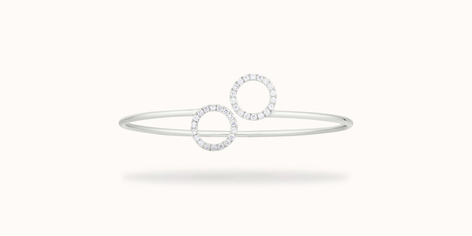 Bracelet O2 - Or blanc 18K (5,00 g), diamants 0,36 cts - Face