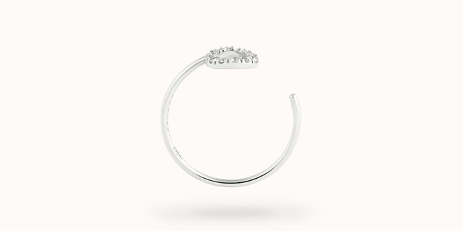 Bague O2 - Or blanc 18K (0,90 g), diamants 0,10 ct - Profil