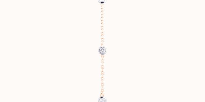 Bracelet Origine - Or jaune 18K (2,20 g), diamants 0,5 cts - Plat - Courbet