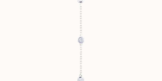 Bracelet Origine - Or blanc 18K (2,20 g), diamants 0,5 cts - Plat