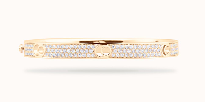 Bracelet O2 - Or rose 18K (4,00 g), diamants 2,70 carats - Courbet