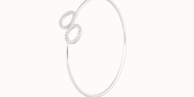 Bracelet O2 - Or blanc 18K (5,00 g), diamants 0,36 cts - Côté