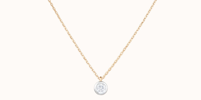 Collier Origine - Or jaune 18K (1,70 g), diamant 0,10 ct - Courbet