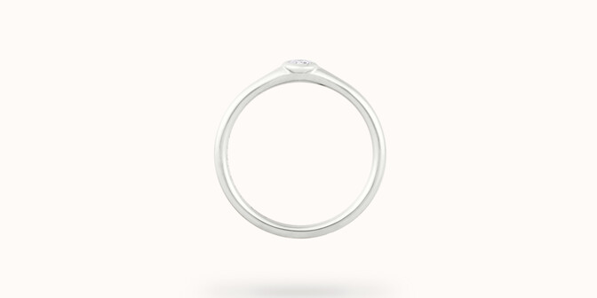 Bague Origine - Or blanc 18K (2,60 g), diamant 0,10 ct - Profil - Courbet