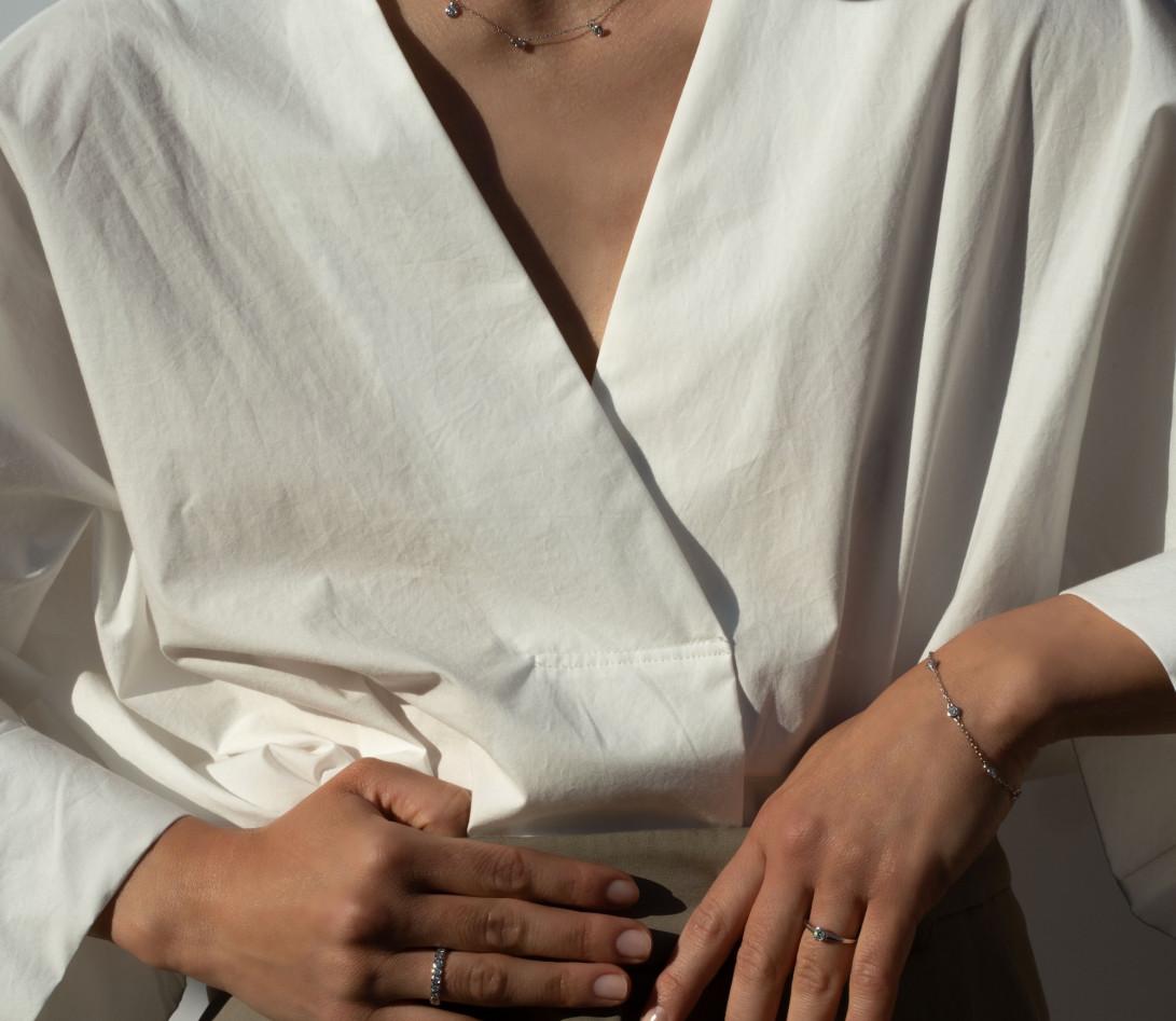 Anneau Or Blanc et Diamant de synthèse 1 ct - Origine - Courbet - Vue 5