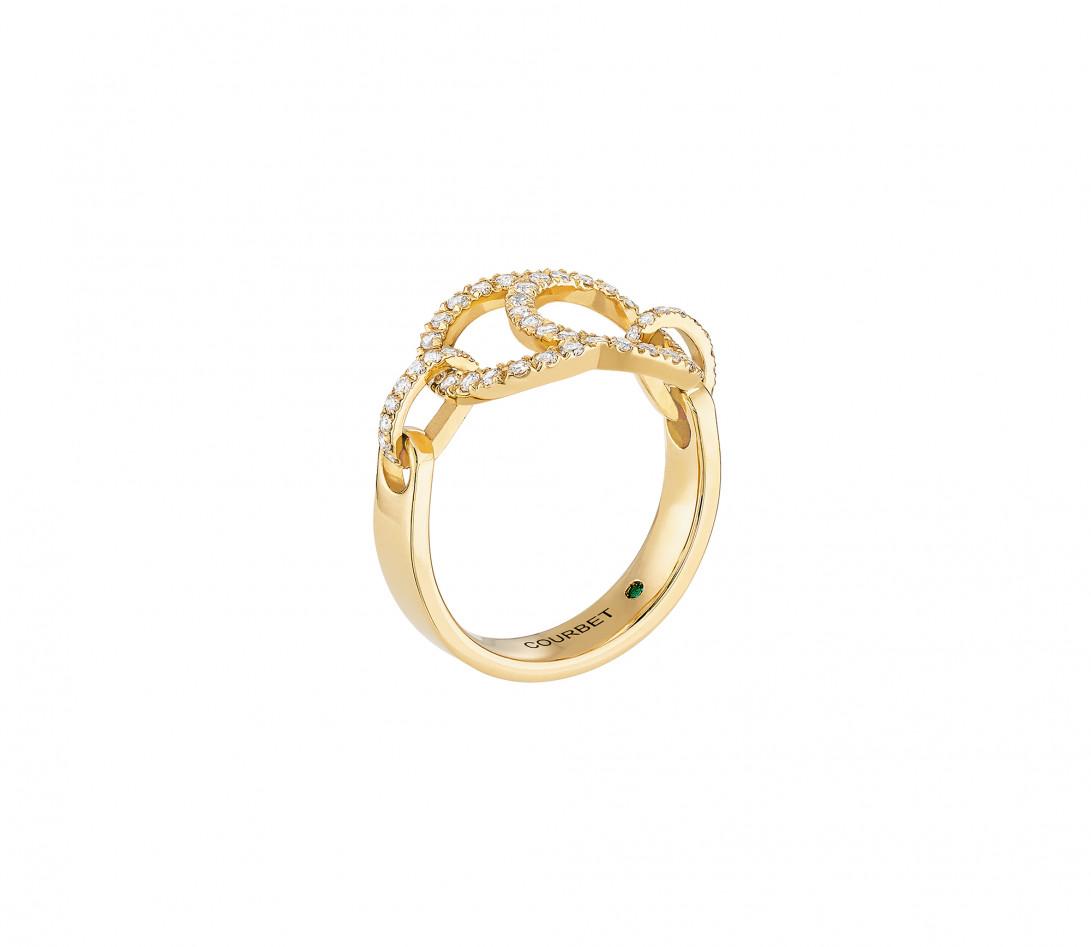 Bague Celeste - Or jaune 18K (5,20 g), diamants 0,50 ct - Vue 2